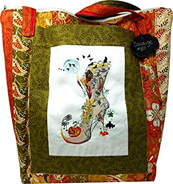 Custom Embroidered Halloween Autumn Large Tote Bag