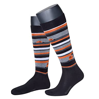 sox in a box set of 3 pairs chimp stripes knee length socks unisex