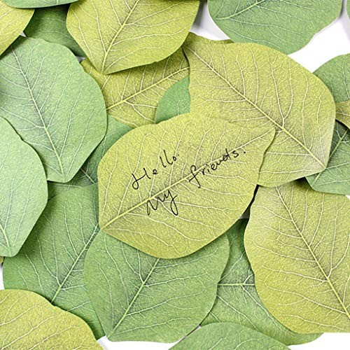 AUWU Tree Leaves Sticky Notes Memo Pad Self-Adhesive Bookmark Promotional Gifts Stationery