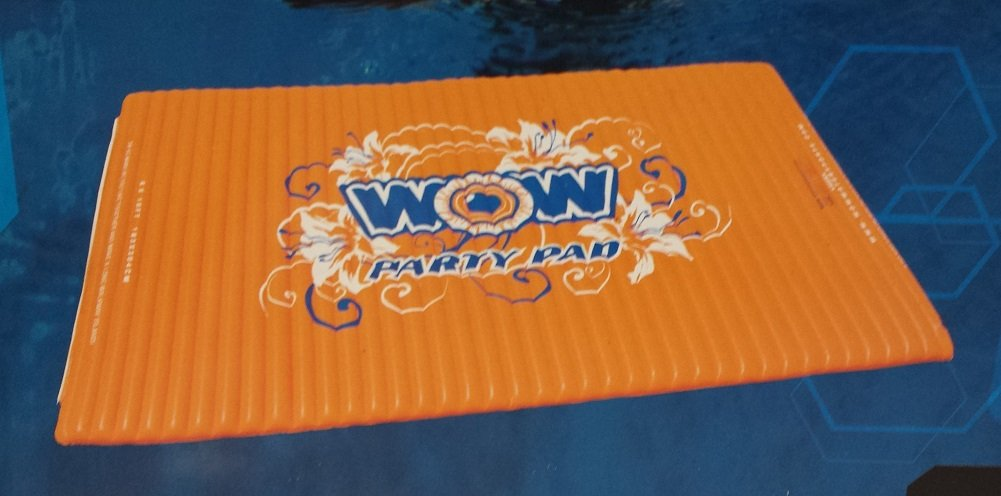 WOW World of Watersports 12-2050, Inflatable Floating Water Walkway, 10 x 6 Feet, 1 to 6 People, Orange