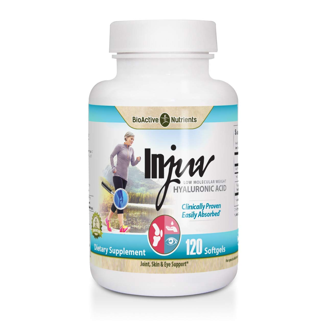 BioActive Nutrients Injuv - Low Molecular Weight Hyaluronic Acid 120 Softgels