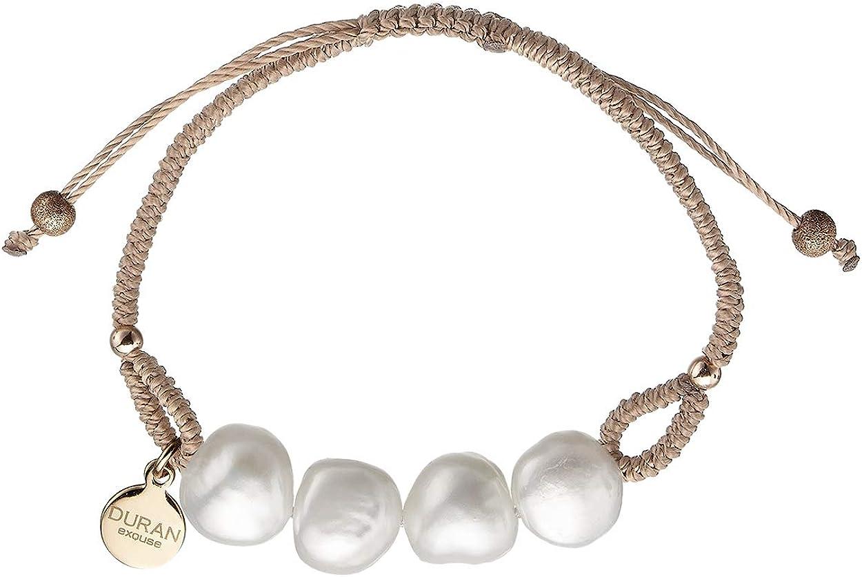 Duran Exquse Pulsera colección Pantone realizada en Plata 925 con Detalles en Perlas Naturales y Piedras de Color