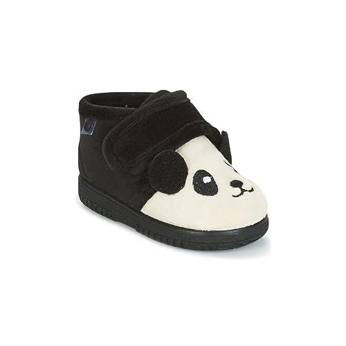 Victoria Bota Velcro Animales, Zapatillas Bajas Unisex bebé, Negro, 27 EU: Amazon.es: Zapatos y complementos