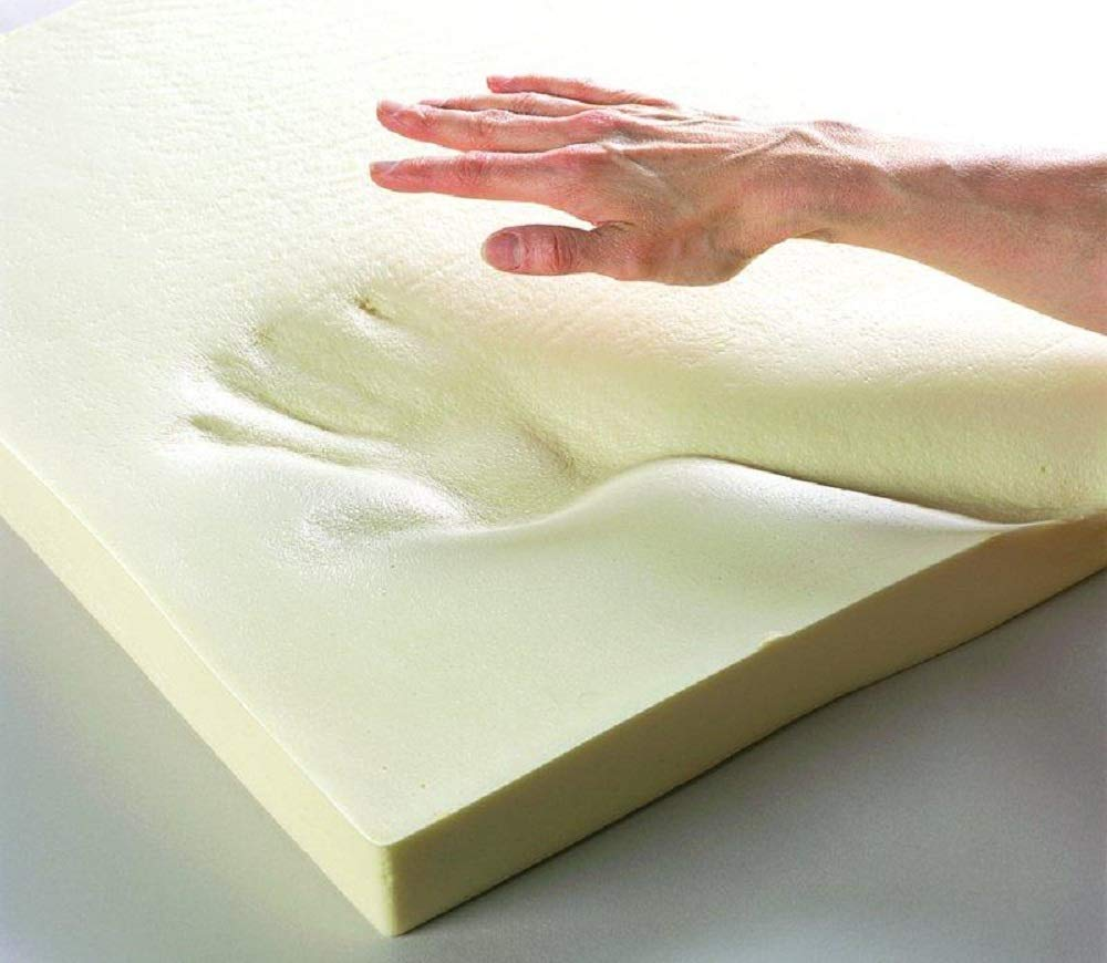 Upholstery Visco Memory Foam Square Sheet- (4''Hx24''Wx24''L, 2.5 lb Regular Density) - Luxury Quality for Sofa, Cushions, Pillows - Dream Solutions USA