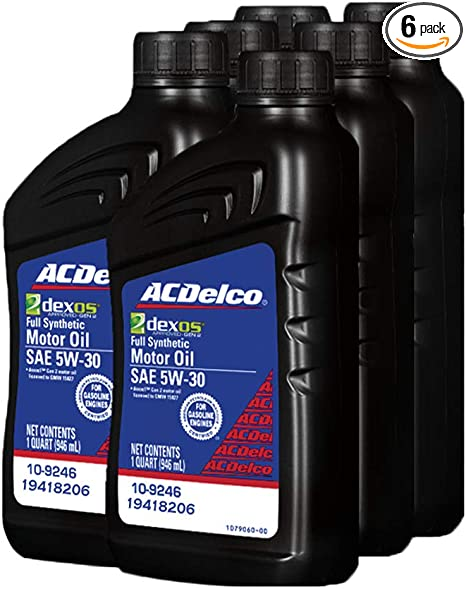Amazon Com Acdelco 19418206 Gm Original Equipment Dexos1 5w 30 Full Synthetic Motor Oil 946 L Pack Of 6 Automotive