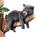 Collections Etc Black Bear On Tree Branch Figurine, Brown