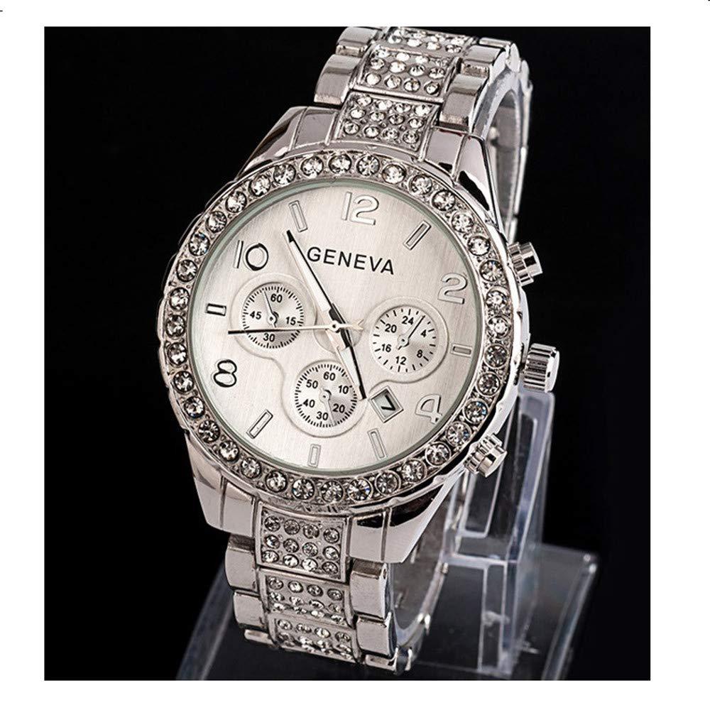 Gibobby Women Wrist Watch, Classic Luxury Crystal Calendar Quartz Dial Clock Case Rose Gold Casual Business Watch