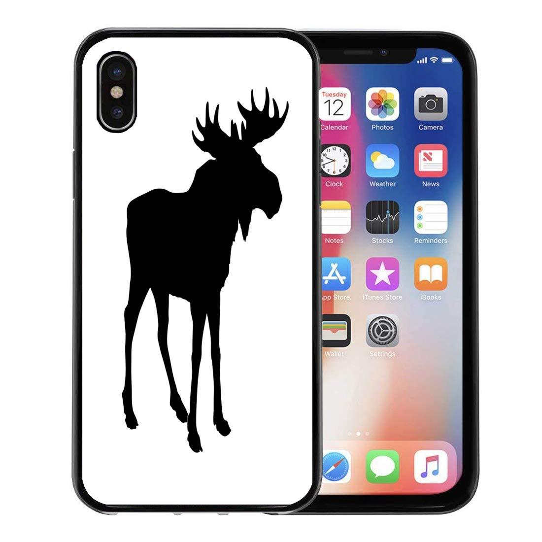 sale retailer ad4ea 9c8ca Semtomn Phone Case for Apple iPhone Xs case,Canada Silhouette Moose ...