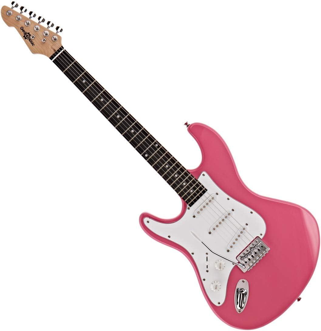 Set de Guitarra Electrica LA Zurda + Amplificador de 10 W Pink ...