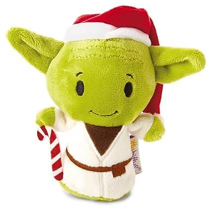Amazon Com Hallmark Itty Bittys Star Wars Holiday Yoda Stuffed