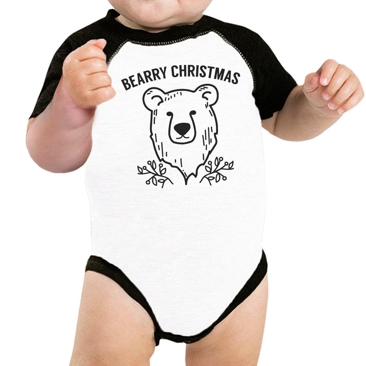 365 Printing Baby Graphic Baseball Tee Christmas Theme Raglan Shirt