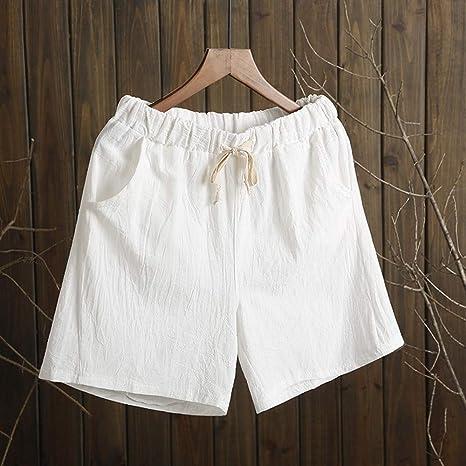 DKXLW Pantalones Cortos De Mujer,Pantalones Cortos De Algodón ...