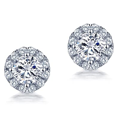 New Hot sale Jewelry Sets 18k White Gold Natural Diamond Engagement Wedding  Women Earrings