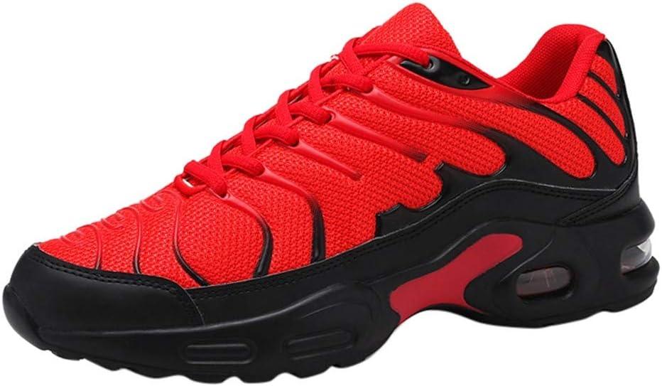 RYTEJFES Zapatillas Deportivas De Malla para Hombre con Estilo Y Ligeras con Colchón De Aire Zapatos Deportivos Casuales De Malla Al Aire Libre para Hombres Zapatillas con Cordones De Fondo Suave: Amazon.es: