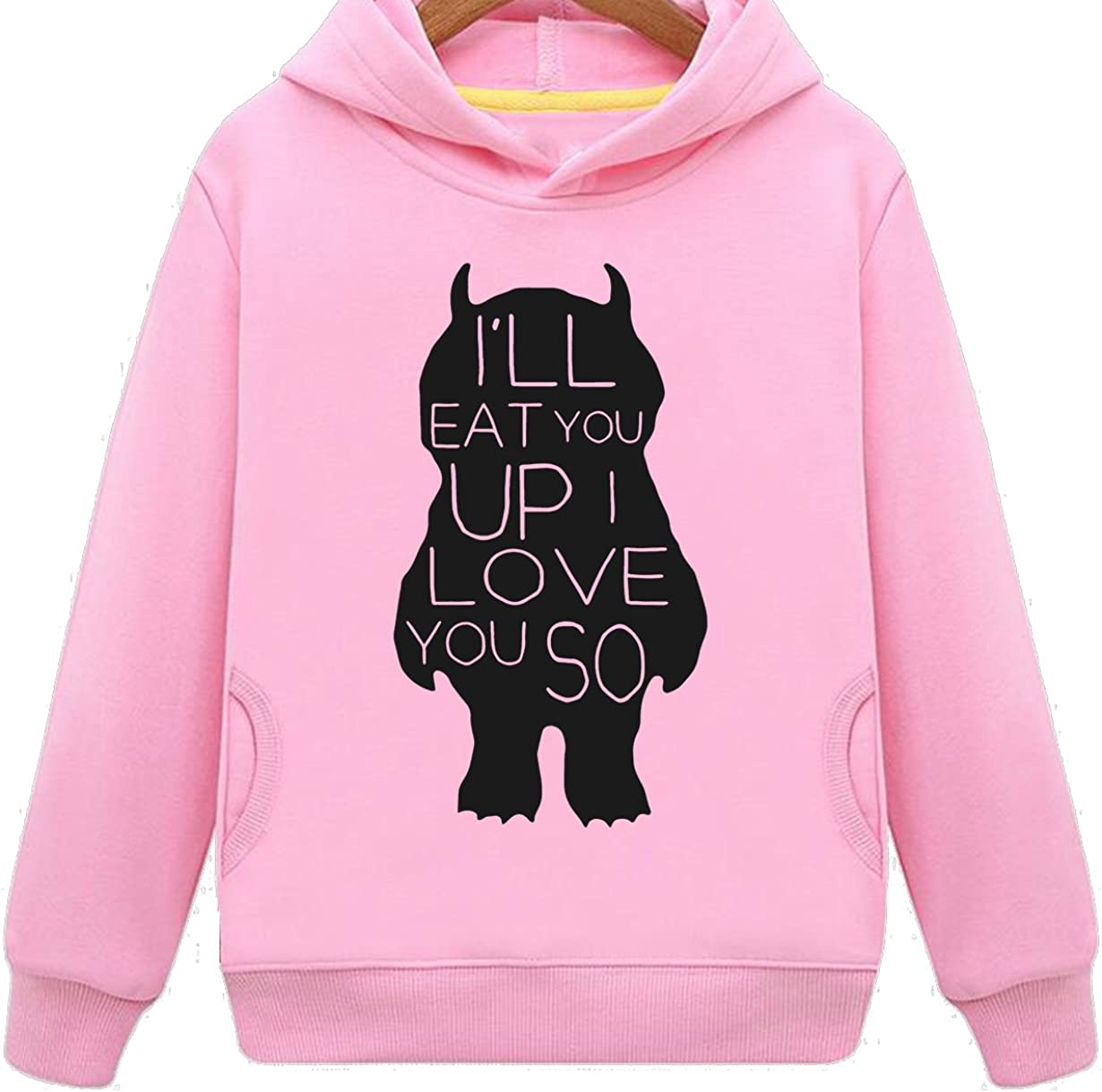 Kids Two Pockets Ill Eat You Up I Love you So Funny Hoodie