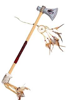 Fancy Ole–Jouet Tomahawk Hache indien Costume Indien Costume d'Armes avec bande en cuir synthétique et plumes, multicolore