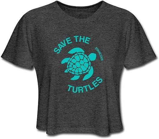 VSCO Girl Save the Turtles Cropped Top VSCO Girl Crop Top