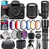 Holiday Saving Bundle for D810 DSLR Camera + 70-200mm f/2.8E VR Lens + 18-140mm VR Lens + 500mm Telephoto Lens + 6PC Graduated Color Filer Set + 2yr Extended Warranty - International Version