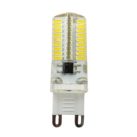 SODIAL LED Bombilla de maiz de atenuacion Mini lampara de silicona 72 Leds SMD 4014 G9