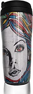 12 oz Tumbler with Lid Where To Find Street Art In Paris Stylish Coffee Cups for Women Men Travel Mugs Birthday Friends Gifts