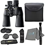 Nikon Aculon A211 10-22x50 Binoculars Black (8252) Bundle with a Tripod Adapter, Nikon Lens Pen, and Lumintrail Cleaning…