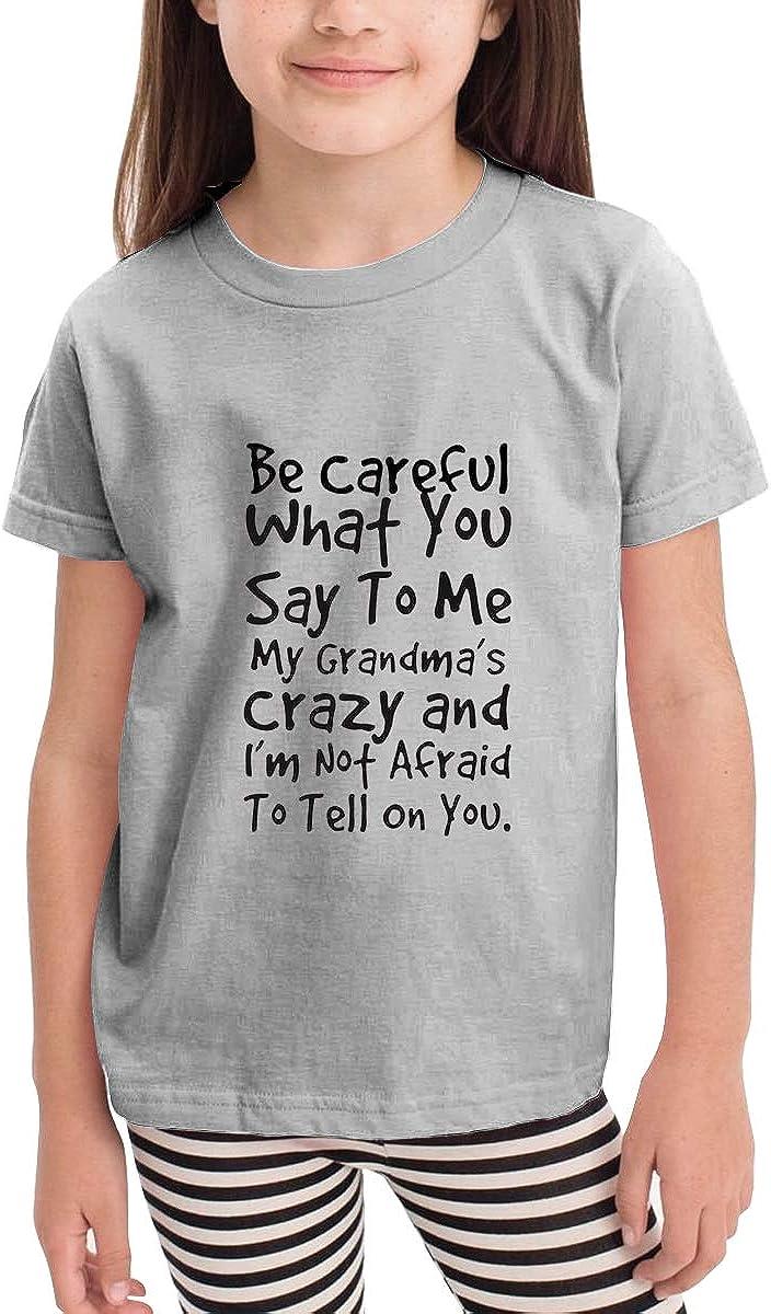 YuHoodieys My Grandmas Crazy Crew Neck Short Sleeve Tee for Toddler Boys