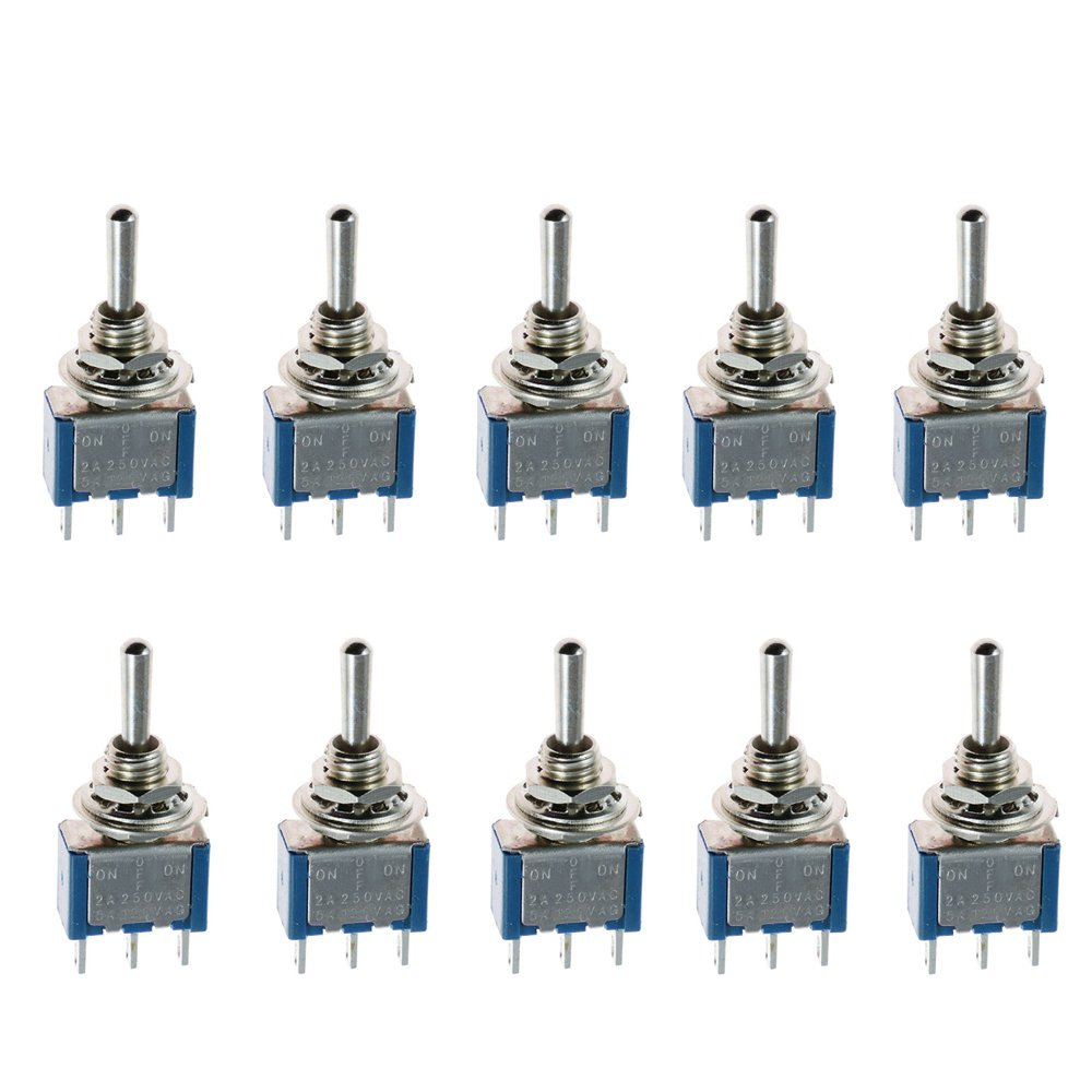 Mintice/™ 10 X On//Off//On Mini Miniature Toggle Switch Car Dash Dashboard SPDT 3Pin Blue