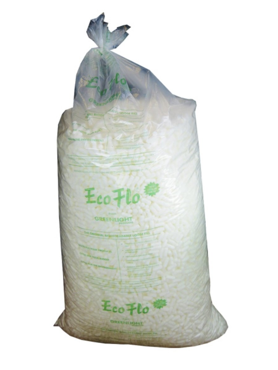 1 Large Bag (15 CUBIC FEET) Of Ecoflo Biodegradable Packing Peanuts - Protective Postal Mailing Packaging Packing Void Loose Fill Filler Filling Supplies