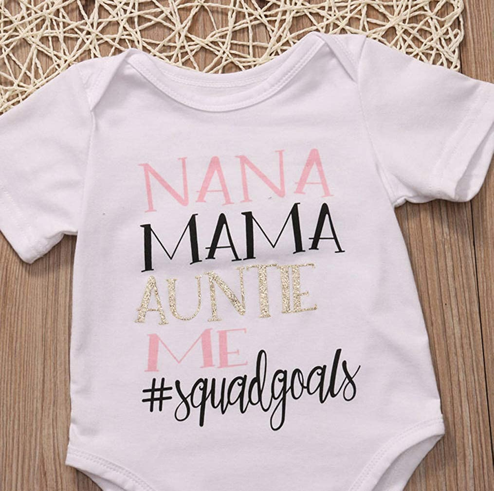Newborn Infant Baby Boys Girl Romper Jumpsuit Bodysuit Outfits Clothes One Piece 6-12M,Nana Mama Auntie me