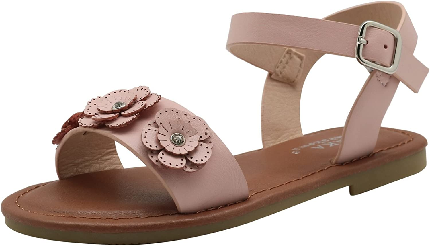 Little Kid//Big Kid Apakowa Kids Girls Fashion Flower Sandal