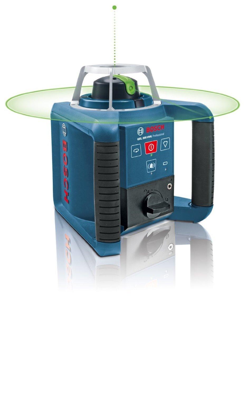 Bosch Professional GRL 300 HVG  Laser rotatif livr/é dans une bo/îte de transport avec jalon GR 240 Prof. et stabilisateur BT 300 HD Prof. r/écepteur laser LR 1G Prof. fixation universelle WM 4 Prof