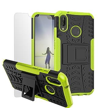 in stock excellent quality discount Nnopbeclik Huawei P20 Lite Coque Antichoc, Huawei Nove 3E Housse Armor  Séries 2 en 1 Dual Layer Rigide Backcover Incassable Etui Protection + 1  Verre ...
