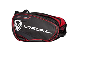 VIRAL Paletero de Padel Bag Tour Black&Red: Amazon.es: Deportes y ...