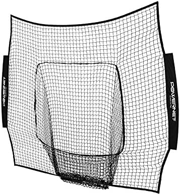 PowerNet Team Color Nets Baseball and Softball 7x7 Bow Style NET ONLY Replacement Team Colors Heavy Duty Knotless Durable PU Coated Polyester Double Stitched Seams for Extra Strength