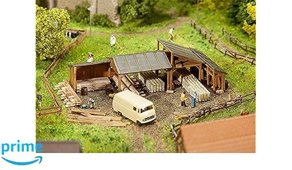 Faller FA 232373 Madera almacenamiento Cobertizos: Amazon.es: Juguetes y juegos