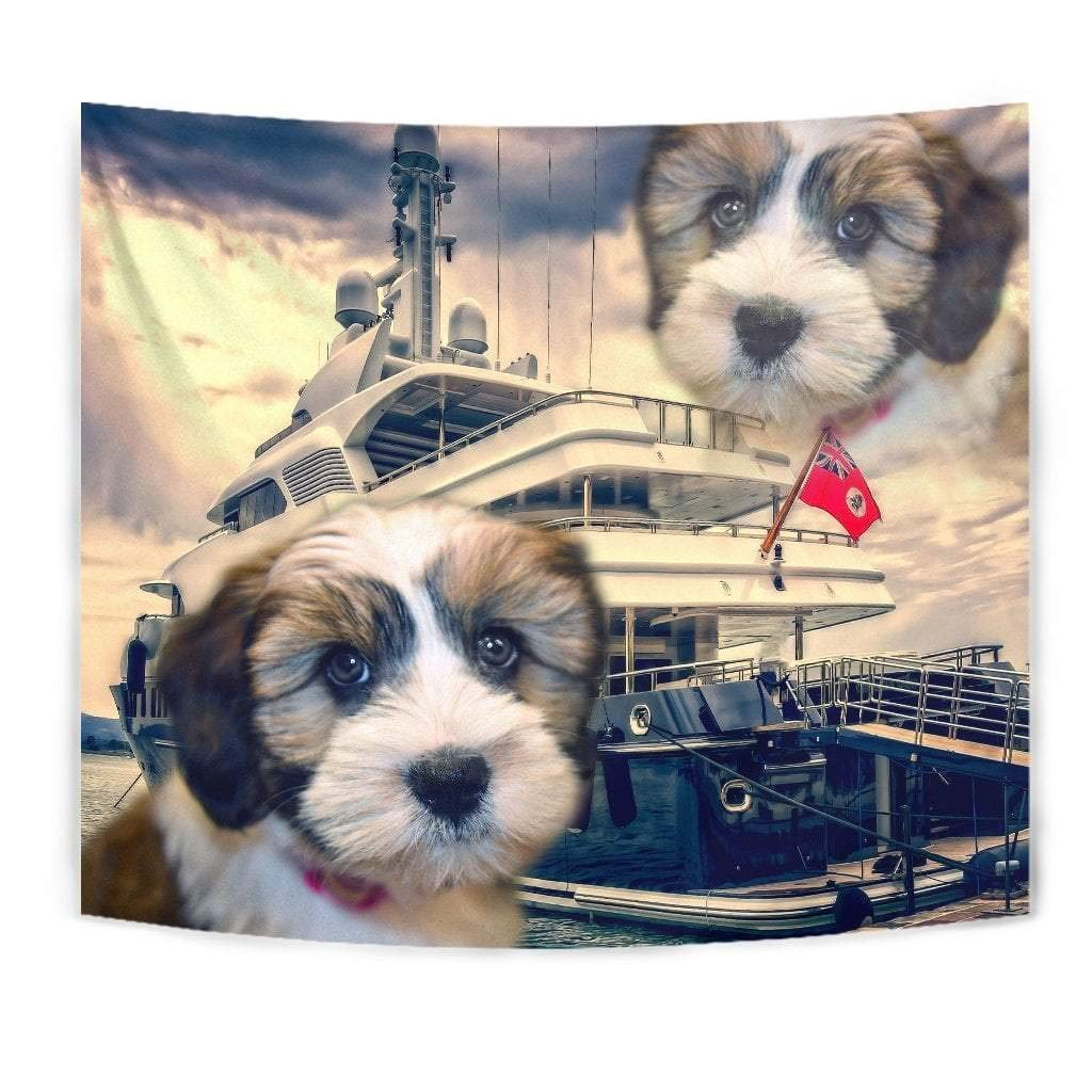 Cute Shih Tzu Dog Print Tapestry by Paws With Attitude