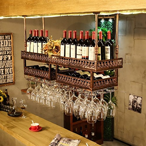 Price comparison product image Personality display stand simple high cup holder bar bar hanging commercial creative wine rack (Color : B)
