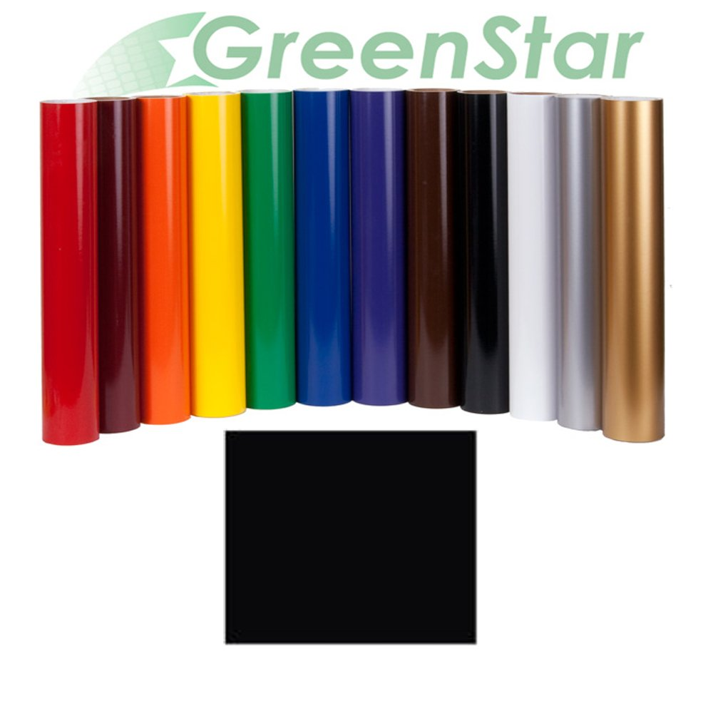 Greenstar Black Sign Vinyl 24'' x 10Yd, Graphics and Lettering for Interior and Exterior Application