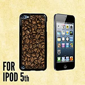 Coffee Beans Custom made Case/Cover/skin FOR iPod 5/5th Generation -Black- Plastic Snap On Case (Ship From CA)