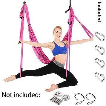 Amazon.com: MDSQ Premium Aerial Silks Equipment Aerial Yoga ...