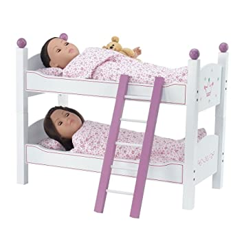 Amazon Com 18 Inch Doll Furniture 2 Single Beds Stackable Bunk