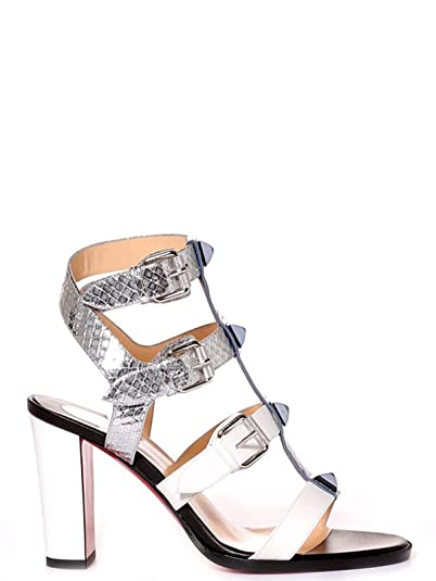 6585d8919f3 Image Unavailable. Image not available for. Color  Christian Louboutin  Women s 1170261M611 Silver Leather Sandals