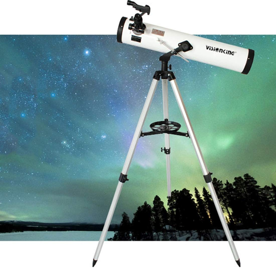 DSLSM Visionking Heights Quality Astronomy (700/76mm) 3 inch Telescope Newtonian Reflector Astronomic Space Telescope by DSLSM