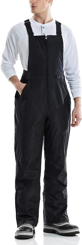 TSLA Men's Winter Snow Bibs, Water Repellent Insulated Snowboard Overalls, Ripstop Windproof Ski Pants : Clothing