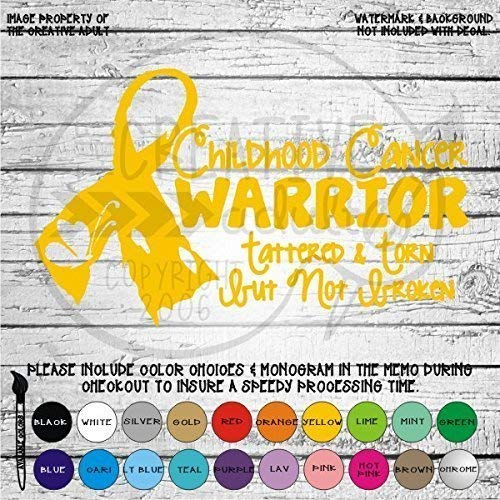 Childhood Cancer Warrior Awareness Ribbon - Vinyl Die Cut Decal Sticker