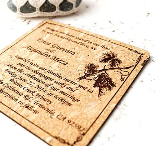 Cork Wedding Invitations: Amazon.com: Wedding Invitations, Cork Wedding Invites