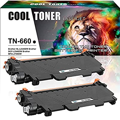 Cool Toner 4 Pack Black Compatible Toner Cartridge Replacement For Brother TN-660 TN660 TN 660 TN630 TN-630 for Brother HL-L2340DW HL-L2300D HL-L2360DW DCP-L2540DW DCP-L2520DW MFC-L2700DW MFC-L2740DW