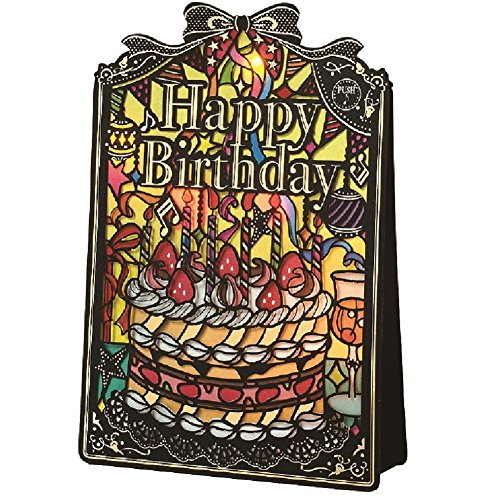 Birthday stained glass light with music card Cake B130-05 Gakken Sta:Ful ()
