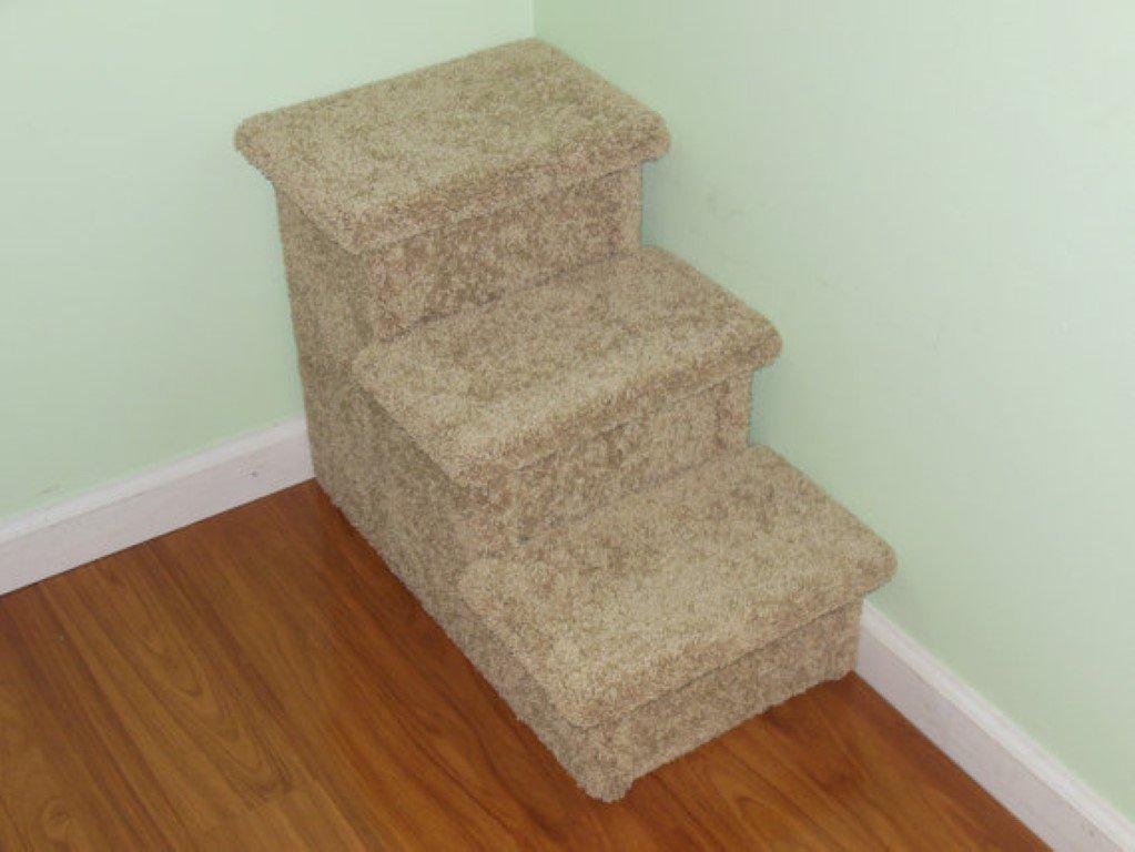 Pet Stair, 24″ High Hampton Bay Pet Steps, Wooden Dog Stairs