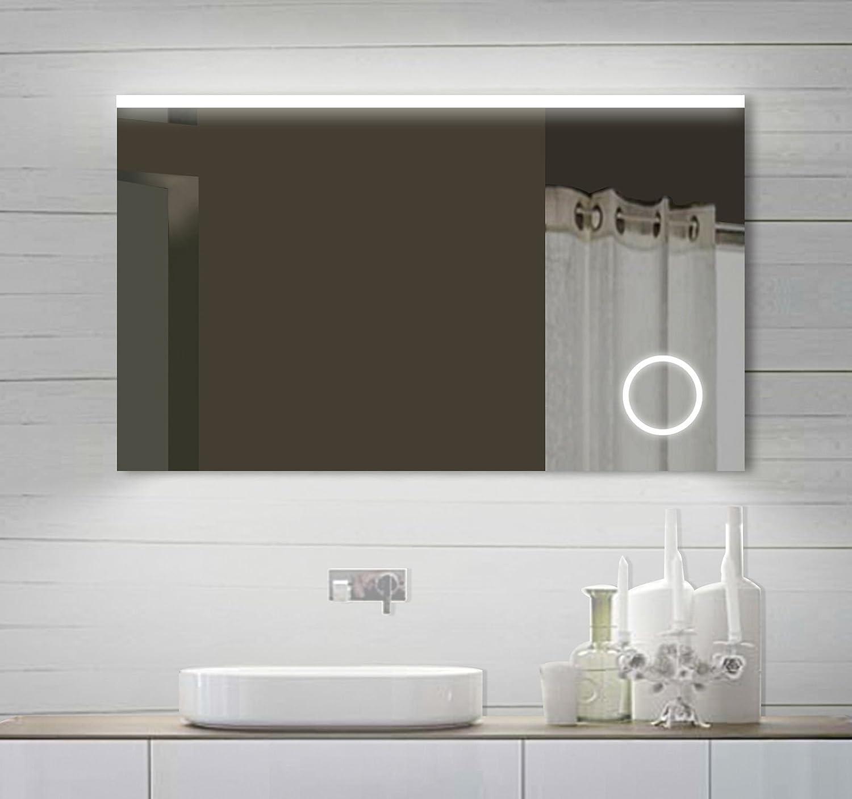 espejo del bao espejo con luz led de diseo para bao con espejo para maquillaje con luz x cm amazones hogar